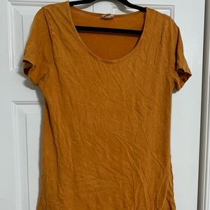Burnt Orange Acid Washed Classic Tee